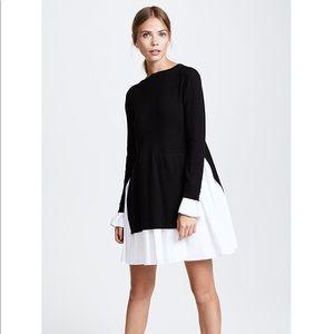 ENGLISH FACTORY dress black & white sz S